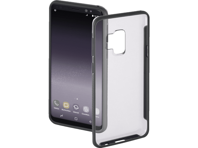 """HAMA Cover """"Frame"""" , Backcover, Samsung, Galaxy S9, Polycarbonat, Thermoplastisches Polyurethan, Transparent"""