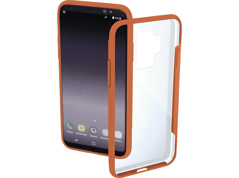 HAMA ´´ Cover ´´´´Frame´´´´ Backcover Samsung Galaxy S9+ Polycarbonat/Thermoplastisches Polyurethan Orange´´ | 04047443376589