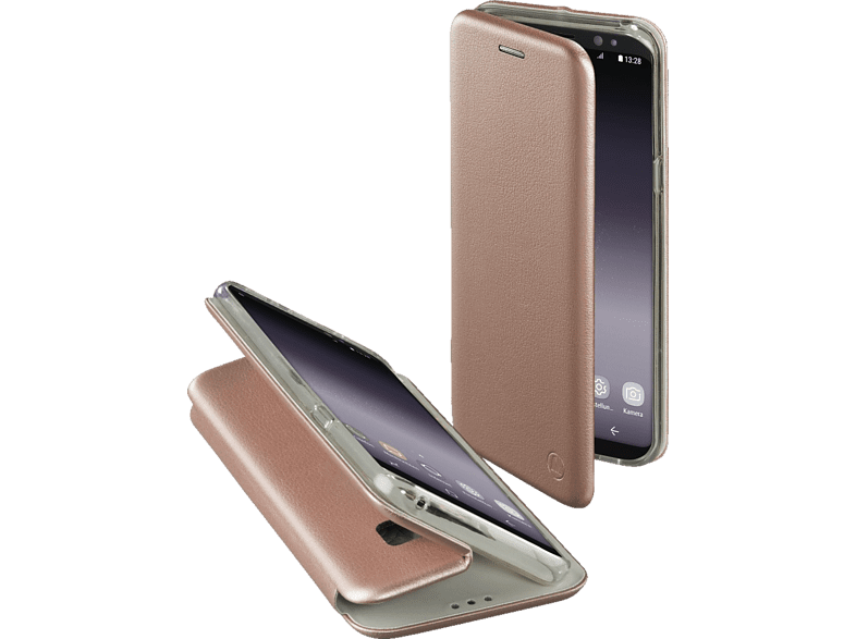 HAMA Essential Line Curve Bookcover Samsung Galaxy S9+ Polyurethan/Thermoplastisches Polyurethan Rosegold