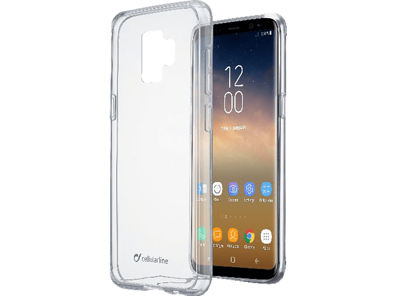 CELLULAR LINE  Clear Duo Backcover Samsung Galaxy S9+ Thermoplastisches Polyurethan Transparent | 08018080317798