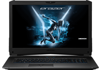 MEDION ERAZER® X7857, Gaming Notebook mit 17.3 Zoll Display, Core™ i7 Prozessor, 16 GB RAM, 1 TB HDD, 512 GB SSD, GeForce® GTX 1070, Titan