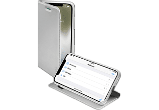 SBS MOBILE Book Case With Stand Function till iPhone X - Silver