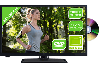 OK. OLE 24651H-TB DVD 12V, 61 cm (24 Zoll), HD-ready, LED TV, 100 CMP, DVB-T2 HD, DVB-C, DVB-S2