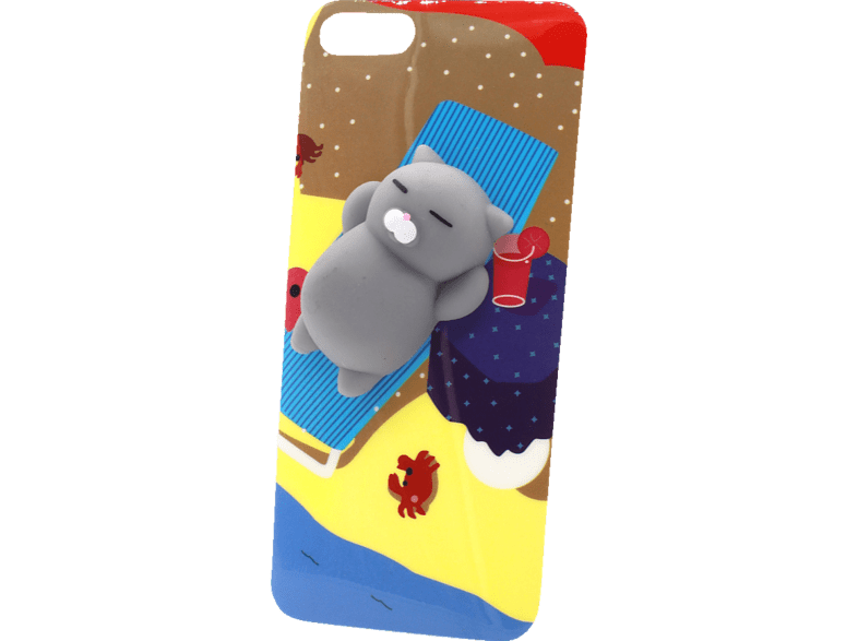 AGM  27084 3D Katze Backcover Apple iPhone 7, iPhone 8 Kunststoff und weiches Silikon mehrfrabig | 04026436270844