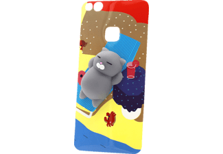 27086 3D Katze Backcover Huawei P10 Lite Kunststoff und weches Silikon mehrfarbig