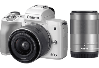 CANON EOS M50 fehér + EF-M 15-45 IS + EF-M 55-200 mm Kit