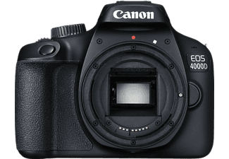 CANON EOS 4000D Body Spiegelreflexkamera, 18 Megapixel, Full HD, APS-C Sensor, Near Field Communication, WLAN, Autofokus, Schwarz