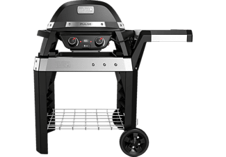 weber elektrogrill pulse 2000 mit rollwagen schwarz 85010079 mediamarkt. Black Bedroom Furniture Sets. Home Design Ideas
