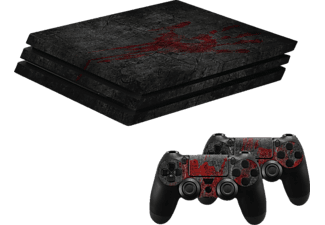 "HAMA PlayStation 4 PRO ""Undead"", Design-Skin, Schwarz"