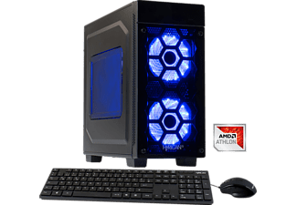 HYRICAN STRIKER 5841 BLUE ATHLON X4-950, Gaming PC mit Athlon X4 Prozessor, 16 GB RAM, 120 GB SSD, 1 TB HDD, GeForce® GTX 1050, 4 GB GDDR5 Grafikspeicher