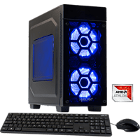 HYRICAN STRIKER 5839 BLUE ATHLON, Gaming PC mit Athlon X4  Prozessor, 8 GB RAM, 1 TB HDD, GeForce® GTX 1050, 2 GB