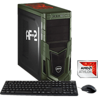 HYRICAN MILITARY GAMING 5847 ATHLON X4-950, Gaming PC mit Athlon X4  Prozessor, 8 GB RAM, 1 TB HDD, GeForce® GTX 1050, 2 GB