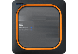 WD My Passport™ Wireless SSD, 1 TB, Festplatte, Schwarz/Orange