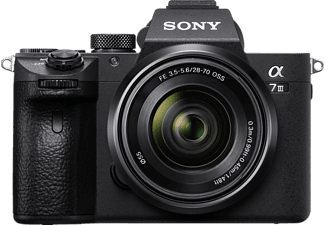 SONY ALPHA 7  III KIT (ILCE7M3) Systemkamera 24.2 Megapixel mit Objektiv 28 - 70 mm f/5.6, 7.5 cm Display   Touchscreen, WLAN