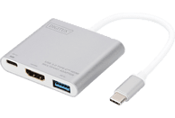 DIGITUS DA 70838-1  USB Typ-C auf HDMI, USB 3.0 & Typ-C mit PD, 4K30Hz Ultra HD, Multiport Adapter