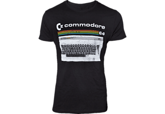 DIFUZED Commodore 64 T-Shirt -L- Classic Keyboard, schwarz T-Shirt, Schwarz