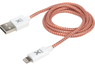 XTORM CX010 Ladekabel, passend für Apple iPad 2017; iPad 4; iPad Air; iPad Air 2; iPad Mini; iPad Mini 2; iPad Mini 3; iPad Mini 4; iPad Mini Retina; iPad Pro 12.9; iPad Pro 9.7; iPhone 5; iPhone 5C; iPhone 5S; iPhone 6; iPhone 6 Plus; iPhone 6S; iPhone 6S Plus; iPhone 7; iPhone 7 Plus; iPhone 8; iPhone 8 Plus; iPhone SE; iPhone X; iPod Touch 5G; iPod Touch 6G, Weiß, Rot, Silber