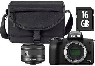 CANON EOS M50 + 15-45/3,5-6,3 IS STM + Premium kit - Svart