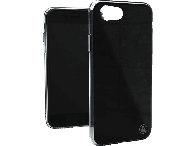 HAMA Prime Line Glass , Backcover, Apple, iPhone 7, iPhone 8, Glas/Thermoplastisches Polyurethan, Schwarz