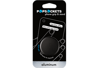 POPSOCKETS BLACK ALU Universal Phone Grip & Stand, BLACK ALU