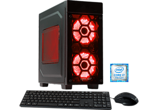 HYRICAN STRIKER 5831 RED, Gaming PC mit Core™ i7 Prozessor, 16 GB RAM, 120 GB SSD, 1 TB HDD, Geforce® GTX 1070, 8 GB GDDR5 Grafikspeicher