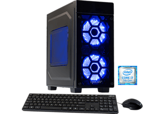 HYRICAN STRIKER 5830 BLUE, Gaming PC mit Core™ i7 Prozessor, 8 GB RAM, 1 TB HDD, Geforce® GTX 1060, 3 GB GDDR5 Grafikspeicher
