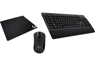 LOGITECH G613 + G603 + G640 Gaming Bundle, Gaming Tastatur + Gaming Maus + Mauspad, Mechanisch