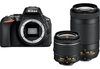 NIKON D5600 + 18–55 MM + 70-300 MM - Reflex numerique - 24.2 MP - noir Appareil photo reflex (Résolution photo effective: 24,2 MP) Noir