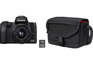 CANON EOS M50 Kit Systemkamera 24.1 Megapixel mit Objektiv 15-45 mm f/6.3, 7.5 cm Display   Touchscreen, WLAN