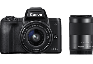CANON EOS M50 fekete + EF-M 15-45 IS + EF-M 55-200 mm Kit