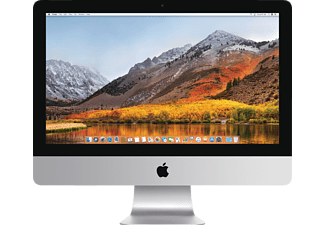 APPLE iMac mit englischer internationaler Tastatur, All-in-One PC mit 21 Zoll, 256 GB Speicher, 8 GB RAM, Core i5 Prozessor, Intel® Iris™ Plus-Grafik 640, Silber