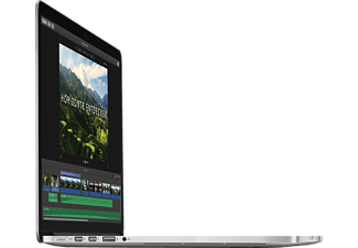 APPLE MJLQ2D/A MacBook Pro mit Retina Display mit deutscher Tastatur, Notebook mit 15.4 Zoll Display, Core i7 Prozessor, 16 GB RAM, 1 TB Flash, Iris Pro Graphics, Silber