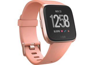 FITBIT Versa, Smartwatch, Elastomer, S-L, Peach/Rose Gold