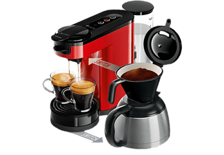 philips kaffeemaschine 2 in 1 hd6592 80 senseo switch rot. Black Bedroom Furniture Sets. Home Design Ideas
