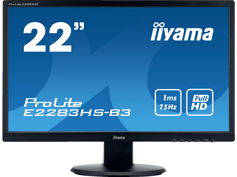IIYAMA PROLITE E2283HS-B3 Full-HD Monitor (1 ms Reaktionszeit, 75 Hz) | 04948570115617