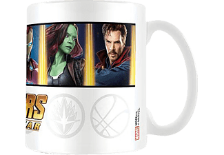 Marvel Avengers Infinity War Tasse Characters and Emblems