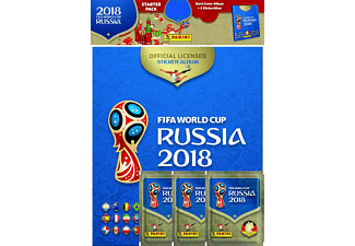 FIFA WM 2018 Hardcover Album + 3 Stickertüten
