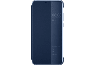 Smart View Bookcover Huawei P20 Kunststoff Dunkelblau