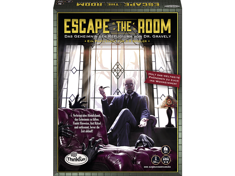 THINKFUN Escape the Room - Das Geheimnis des Refugiums von Dr. Gravely ThinkFun