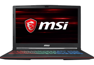 MSI GP63 8RE-223DE Leopard, Gaming Notebook mit 15.6 Zoll Display, Core i7 Prozessor, 16 GB RAM, 256 GB SSD, 1 TB HDD, GeForce® GTX 1060, Schwarz