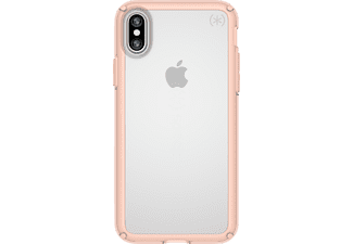 SPECK Gemshell Handyhülle, Transparent/Aprikose, passend für Apple iPhone X