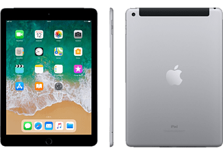 APPLE iPad (2018), Tablet mit 9.7 Zoll, 128 GB Speicher, LTE, iOS 11, Space Grey
