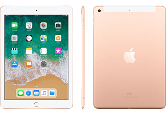 APPLE iPad (2018), Tablet, 128 GB, LTE, 9.7 Zoll, iOS 11, Gold