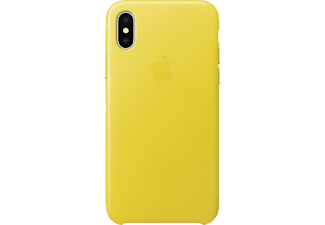 APPLE Leather Case Handyhülle, Spring Yellow, passend für Apple iPhone X