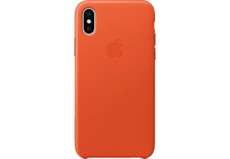 APPLE Leather Case iPhone X Handyhülle, Bright Ornage
