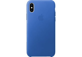 APPLE Leather Case Handyhülle, Electric Blue, passend für Apple iPhone X