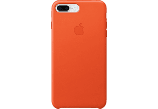 APPLE Leather Case Handyhülle, Bright Orange, passend für Apple iPhone 7 Plus, iPhone 8 Plus