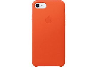 APPLE Leather Case Handyhülle, Bright Orange, passend für Apple iPhone 7, iPhone 8