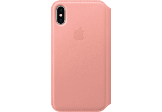 APPLE Leather Folio iPhone X Handyhülle, Soft Pink