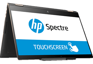HP Spectre x360 15-ch031ng, Convertible mit 15.6 Zoll Display, Core™ i7 Prozessor, 16 GB RAM, 1 TB SSD, GeForce MX150, Grau